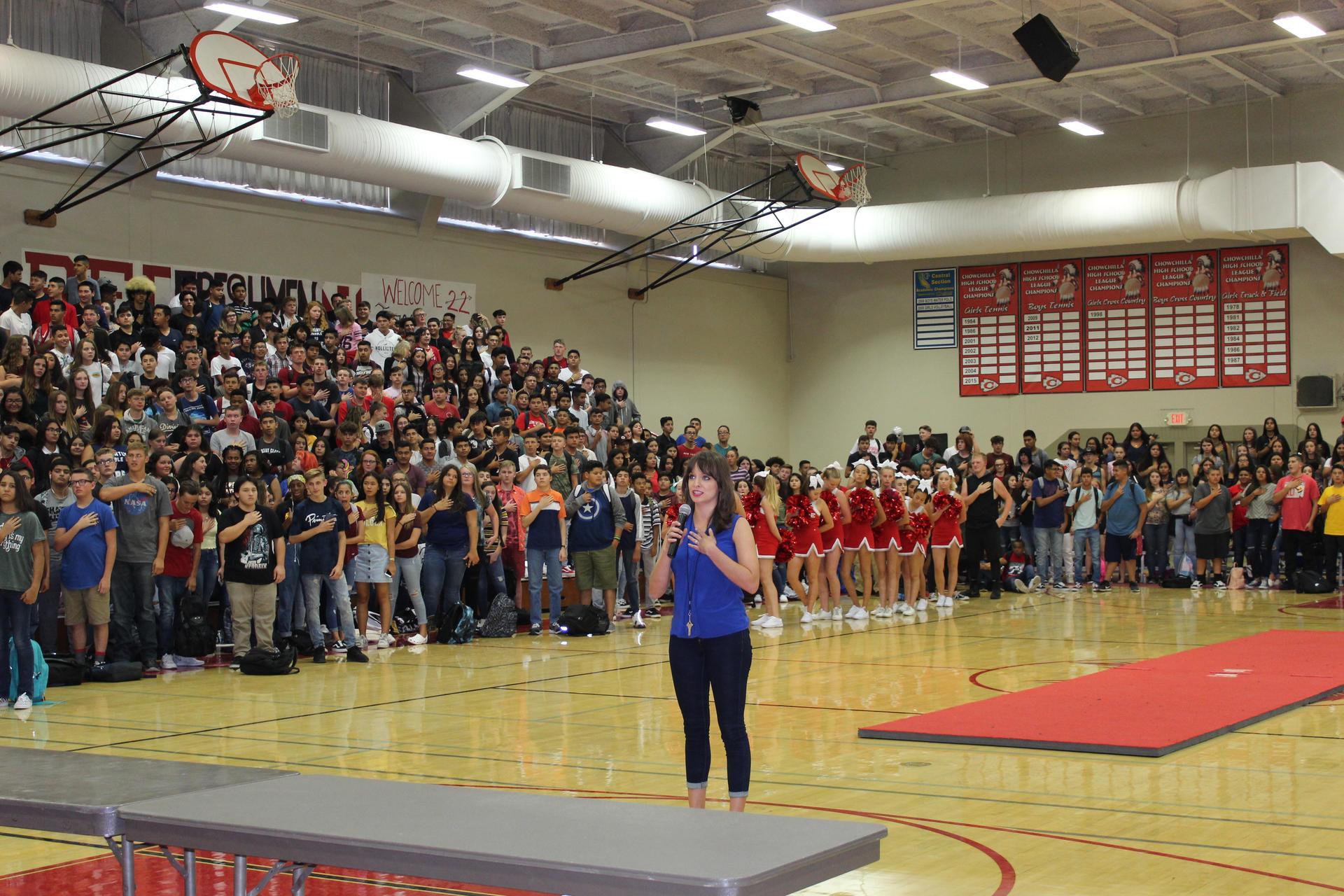 Students at Spirit Rally