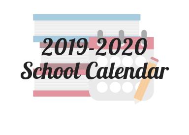 2019-2020 OFFICIAL SCHOOL CALENDAR Featured Photo