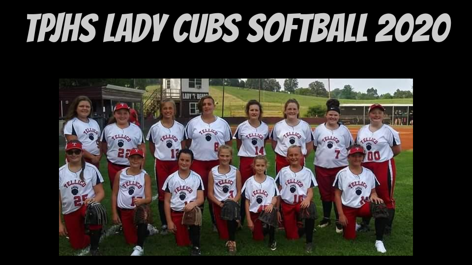 tpjhs lady cubs softball 2020 team informal pic
