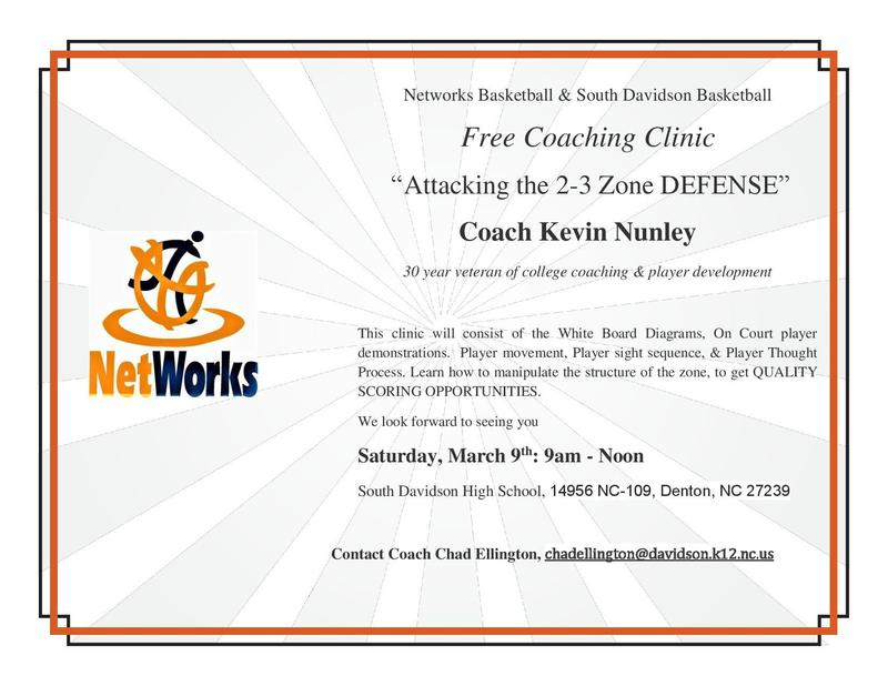 Upcoming Coaches Clinic