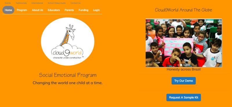 Homepage of Cloud 9 World