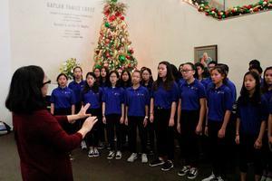 Jefferson students singing