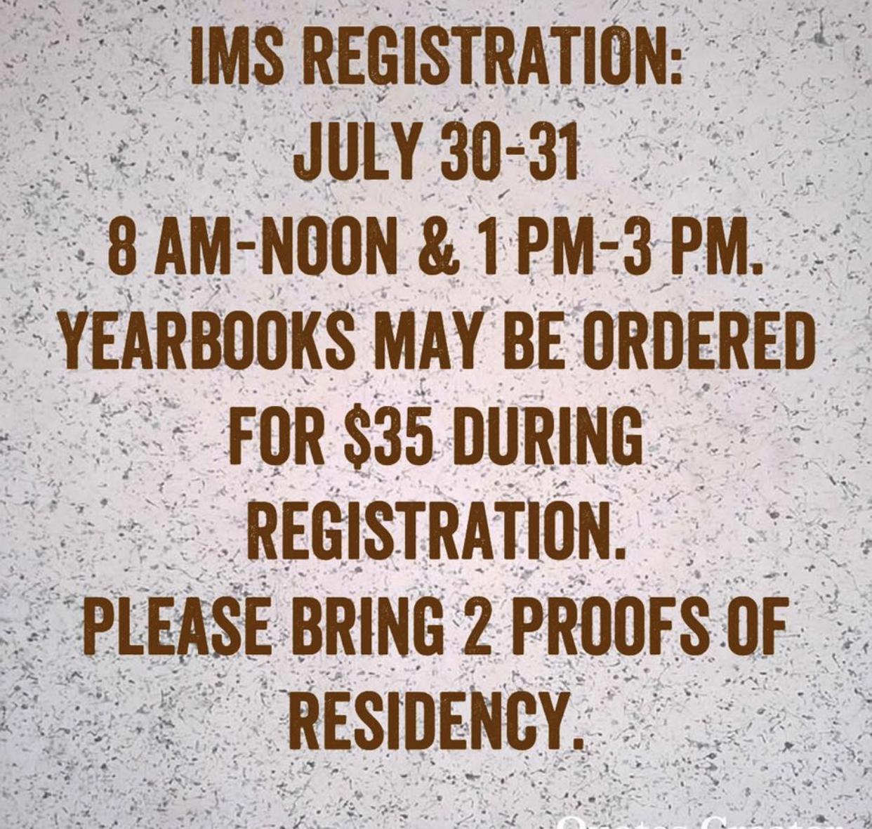 IMS Registration