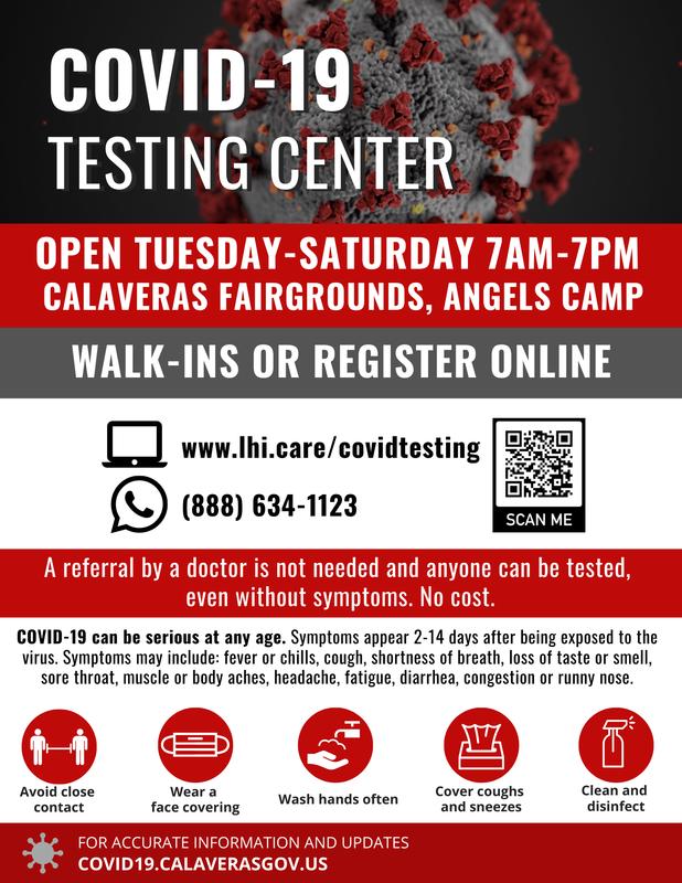 COVID testing info