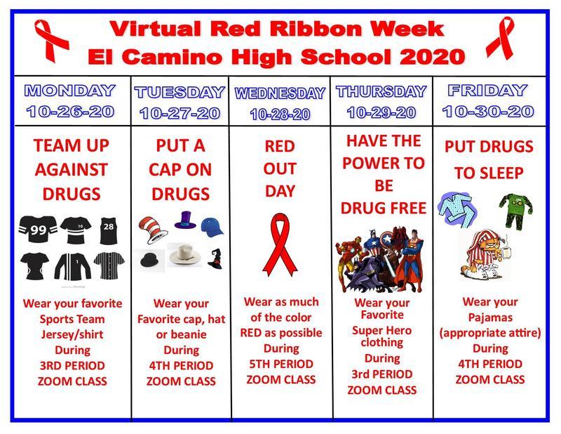 Virtual Red Ribbon Week @ El Camino High School Featured Photo