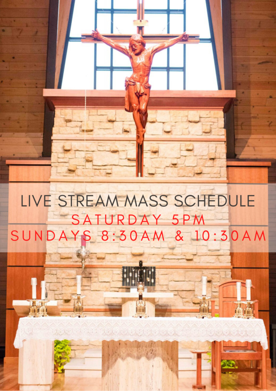 Weekly Live Stream Mass Schedule Thumbnail Image