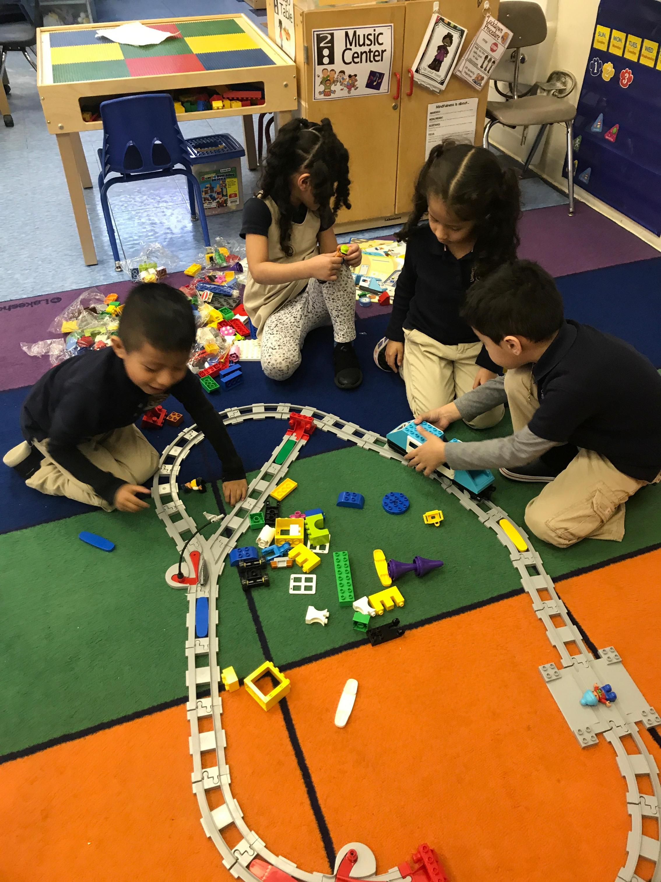 student building the train station