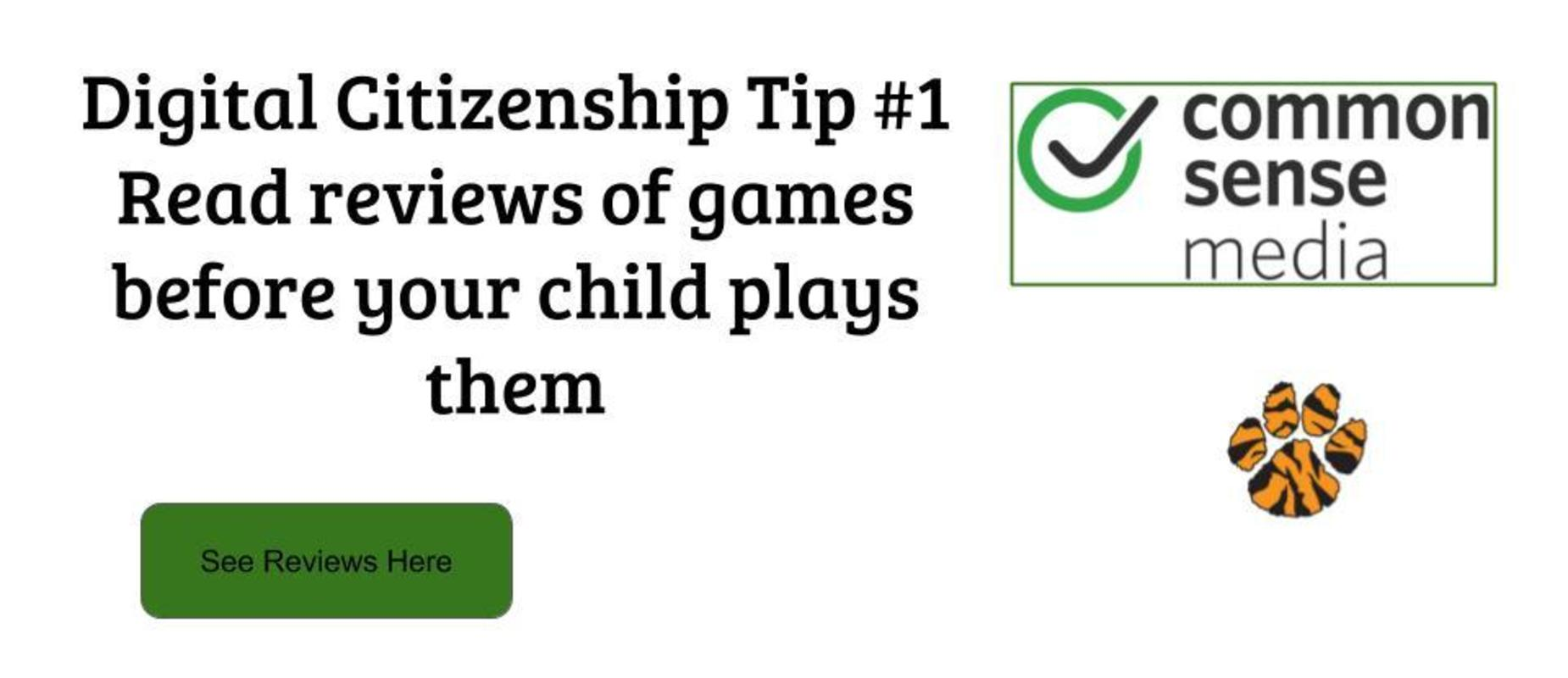 Common Sense Media game reviews