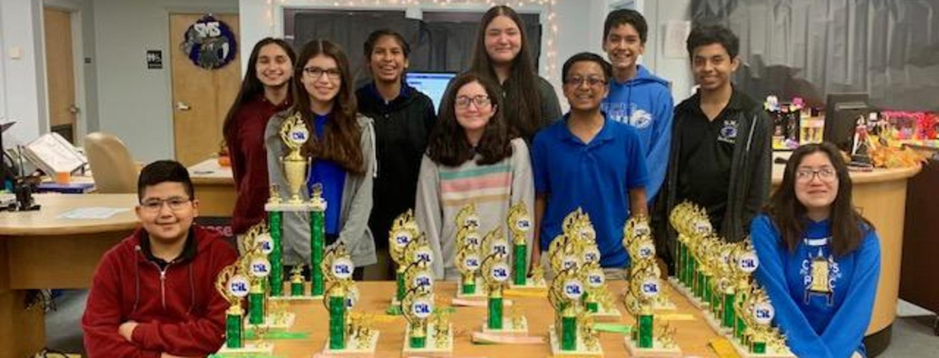 8th Grade UIL wins 1st Place