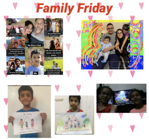 Students' families collage for