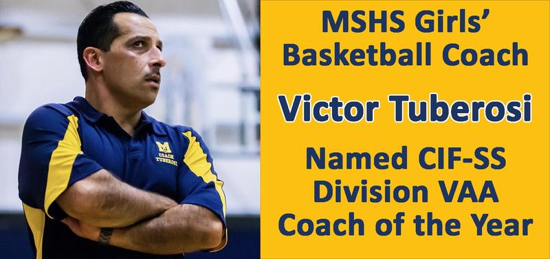 Coach Tuberosi Named CIF Coach of the Year Featured Photo