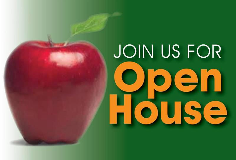 open house with apple
