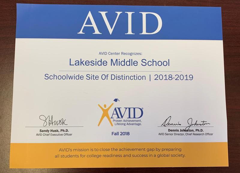 AVID Site of Distinction Award