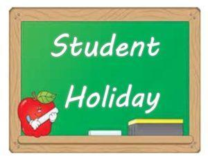 Student holiday reminder sign
