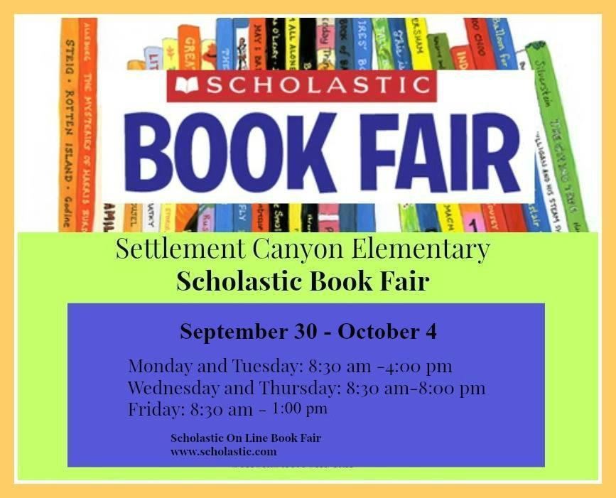 Book Fair Sept 30 to Oct. 4