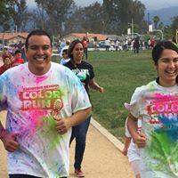 teachers running in Color Run