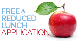 Free and Reduced Application text in front of apples