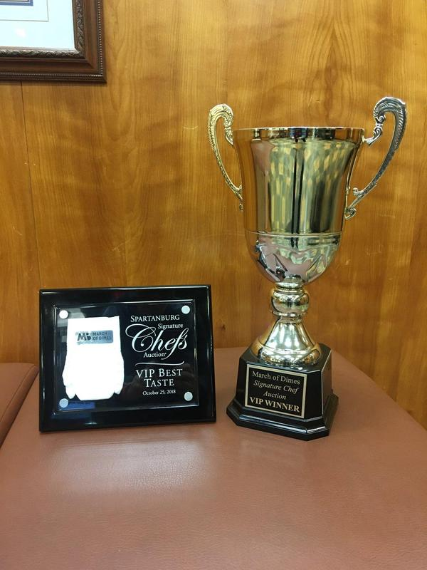 A picture of the first place trophy