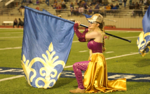 Scout performing during the Homecoming halftime show