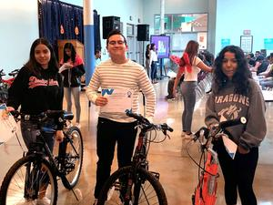 Students won bikes for their hard work