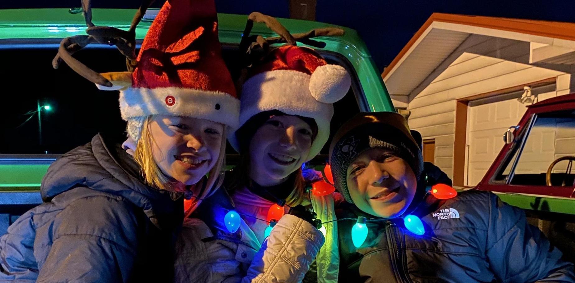 kids in holiday attire