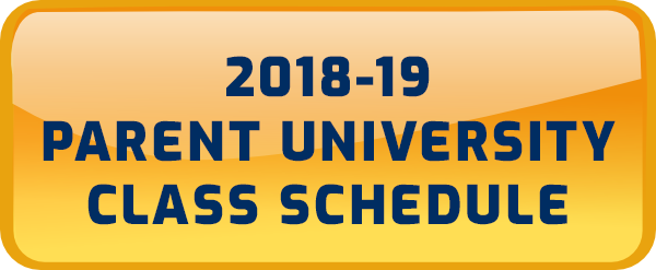 Button for Parent University schedule.