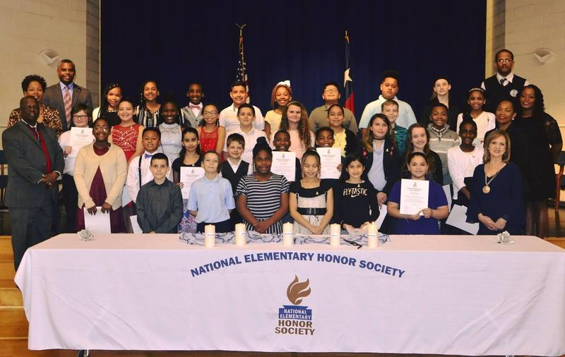 National Elementary Honor Society new and current members.