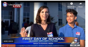 Photo of FOX16 Reporter and LISA Student