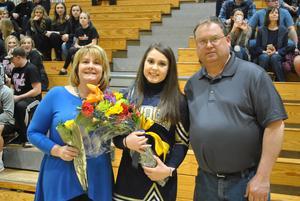 pic of Celeste Beacom and parents