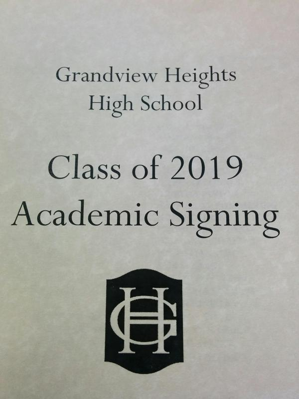 Academic Signing Day Program Cover