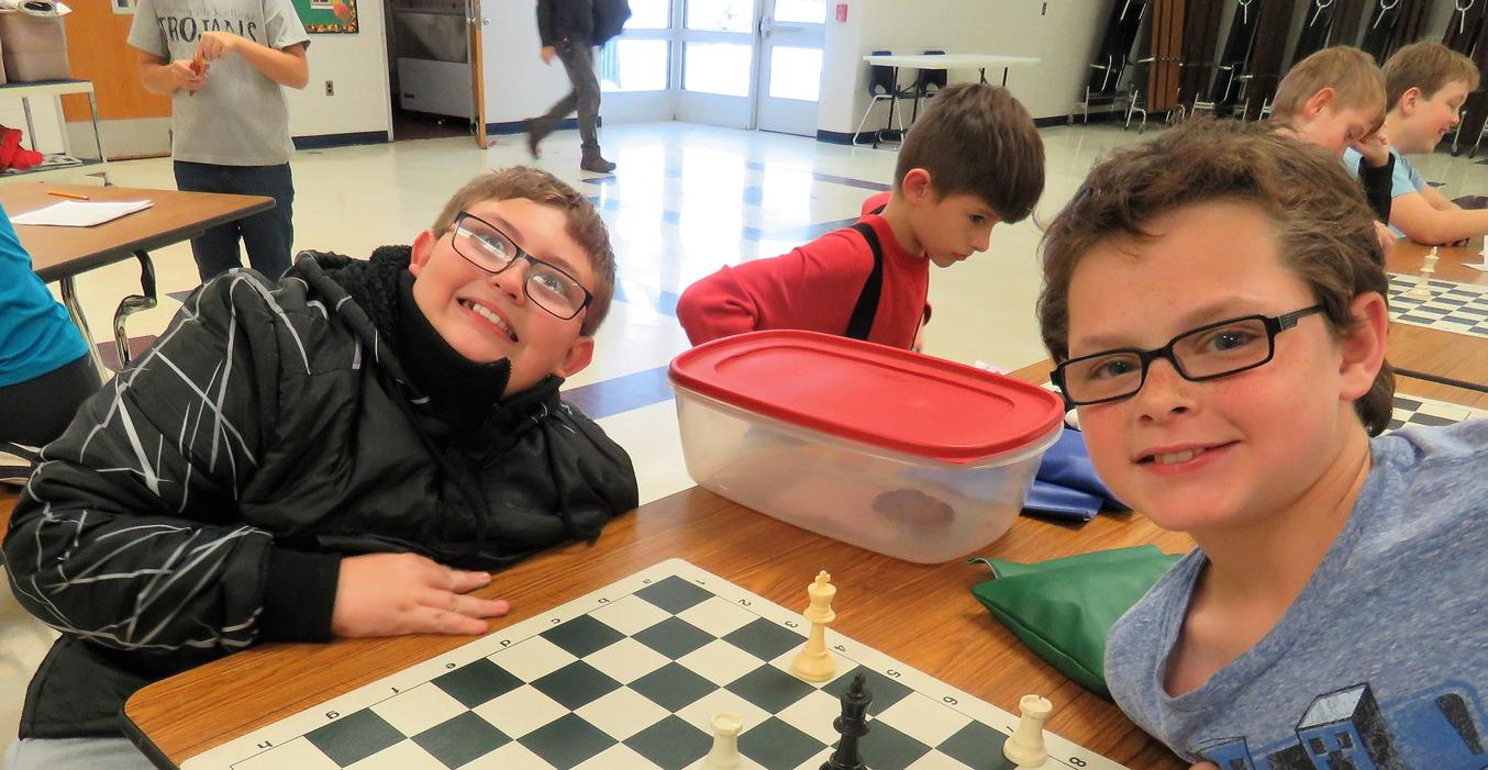 Page students enjoy Chess Club after school.