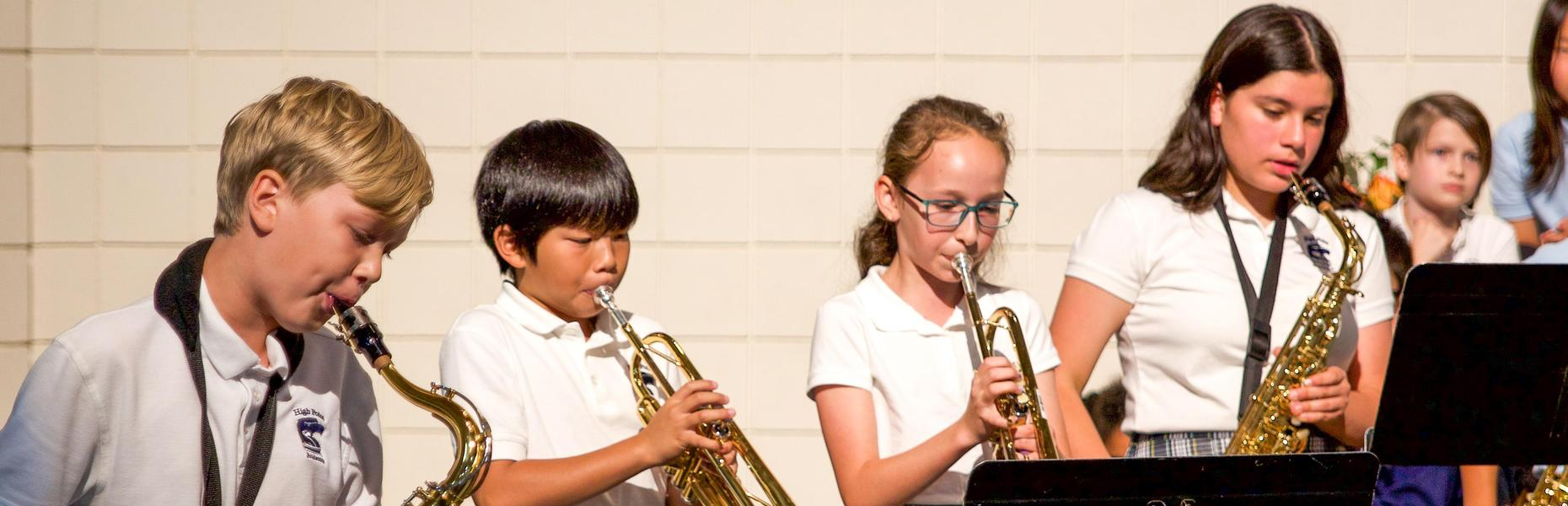 High Point Academy music students.