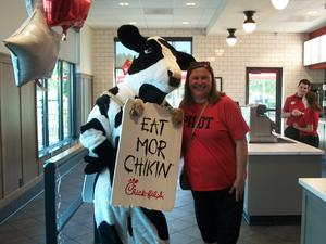 Students and family members attend Chick-fil-A Night.