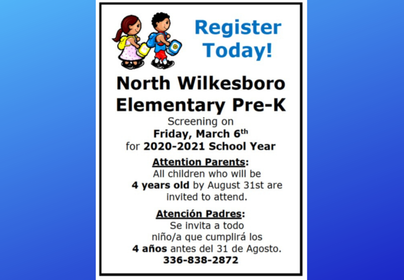 Pre-K Screening at North Wilkesboro Elementary Thumbnail Image