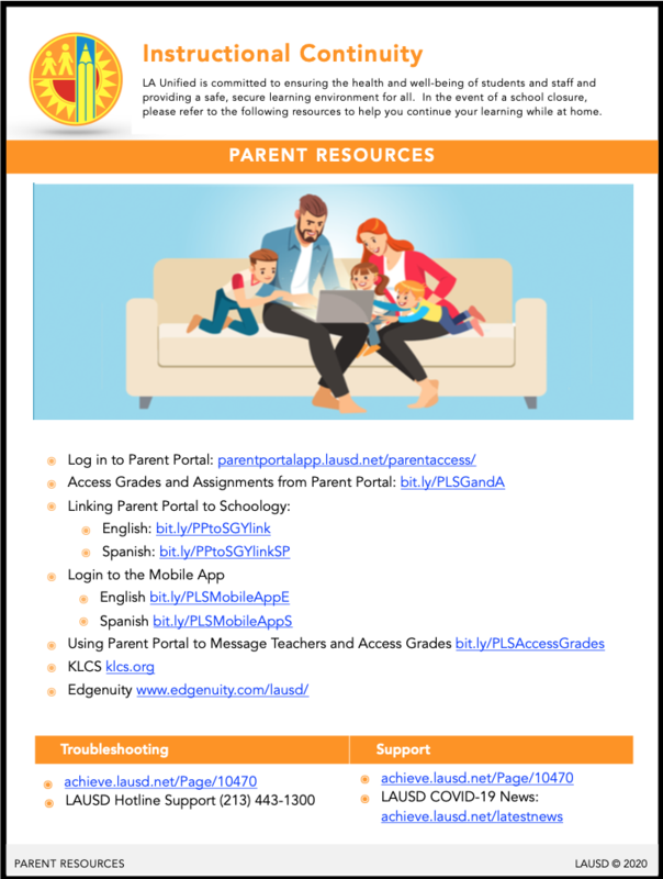 Student and Parent Preparedness Thumbnail Image