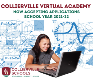 Collierville Virtual academy Now Accepting Applications School year 2021-22.png