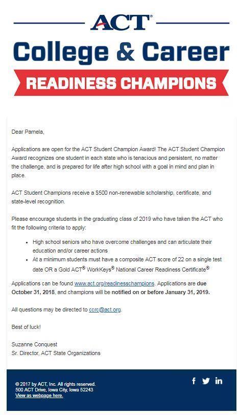 ACT/SAT/ASVAB – Senior Information – Smith County High School