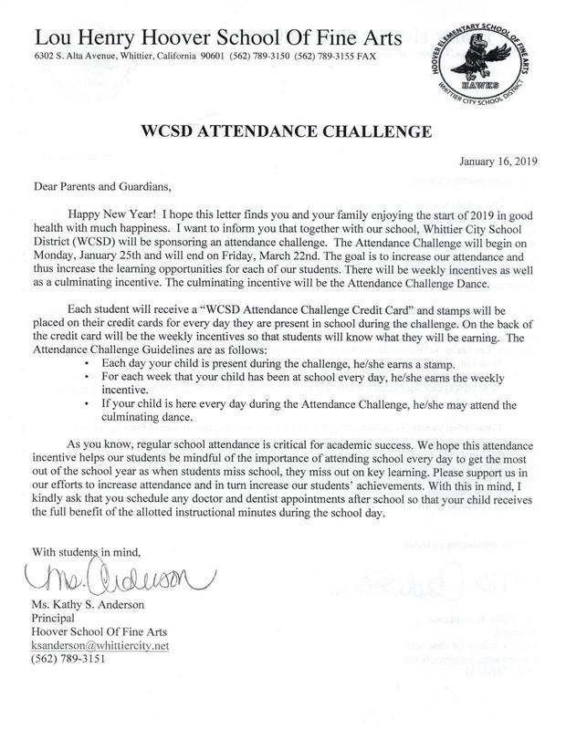 WCSD Attendance Challenge