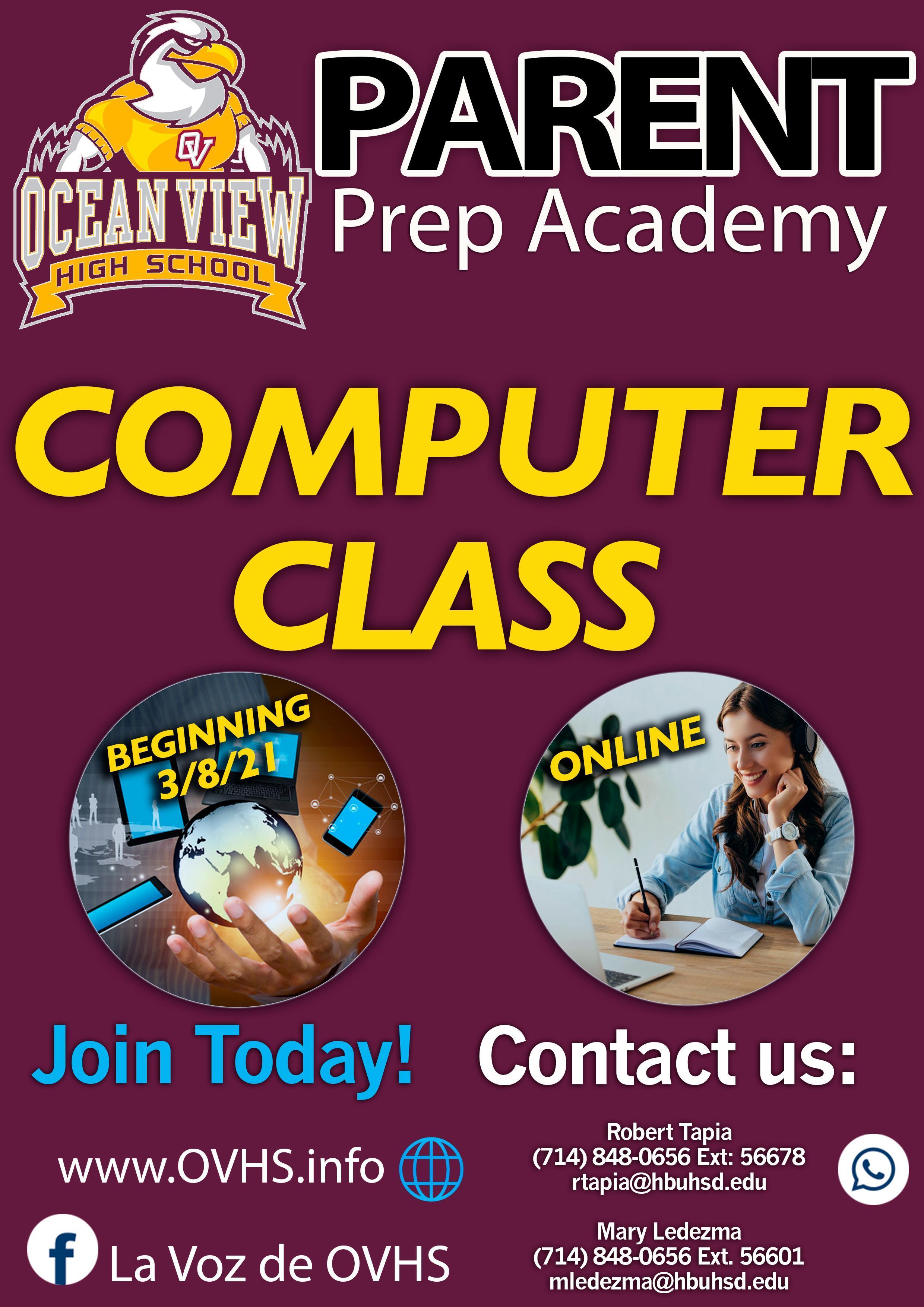 Computer class flyer