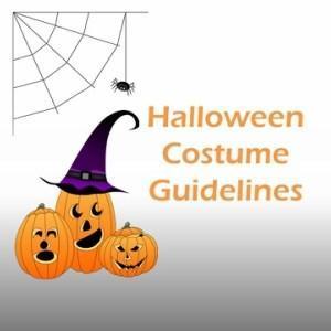 Halloween costume guidelines logo