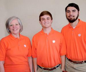 Dr. Jean Bertrand, Associate Dean of the College of Agriculture, Forestry and Life Sciences at Clemson University, is shown here with Clemson students Parker Eargle and Hunter Bedenbaugh of Batesburg-Leesville.