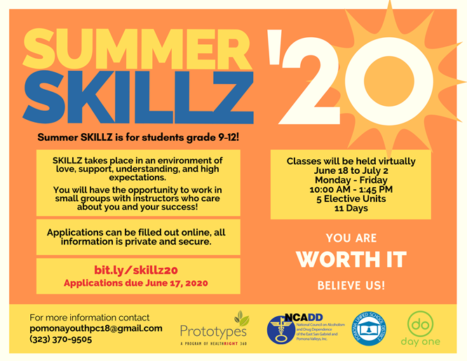 All PUSD incoming 9th-12th graders are invited to apply to take an online Life Skills Summer School Course (June 18-July 2). You will earn five elective credits  after course completion. Application deadline is June 17, 2020. https://forms.gle/Vm5JAgkbebiof1pY6