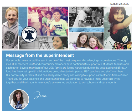 Message From the Superintendent Featured Photo