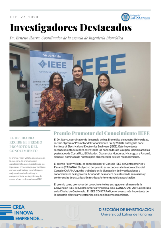 Premio Promotor del Conocimientos IEEE Featured Photo