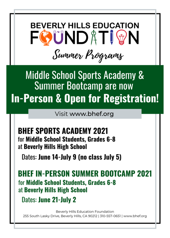 Middle School Sports and Summer Bootcamp is open for registration!