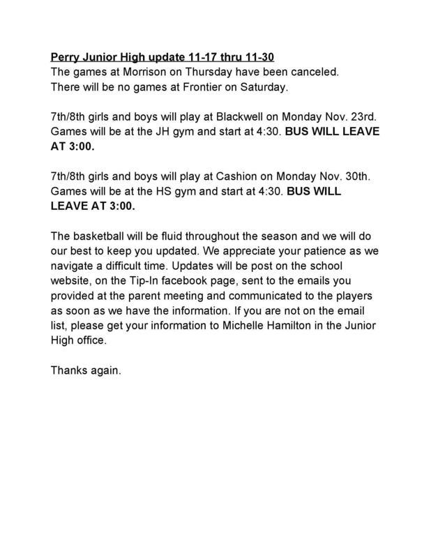 JH BBall Update