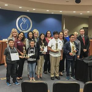 Hemet Unified 42nd Annual Spelling Bee Place Winners