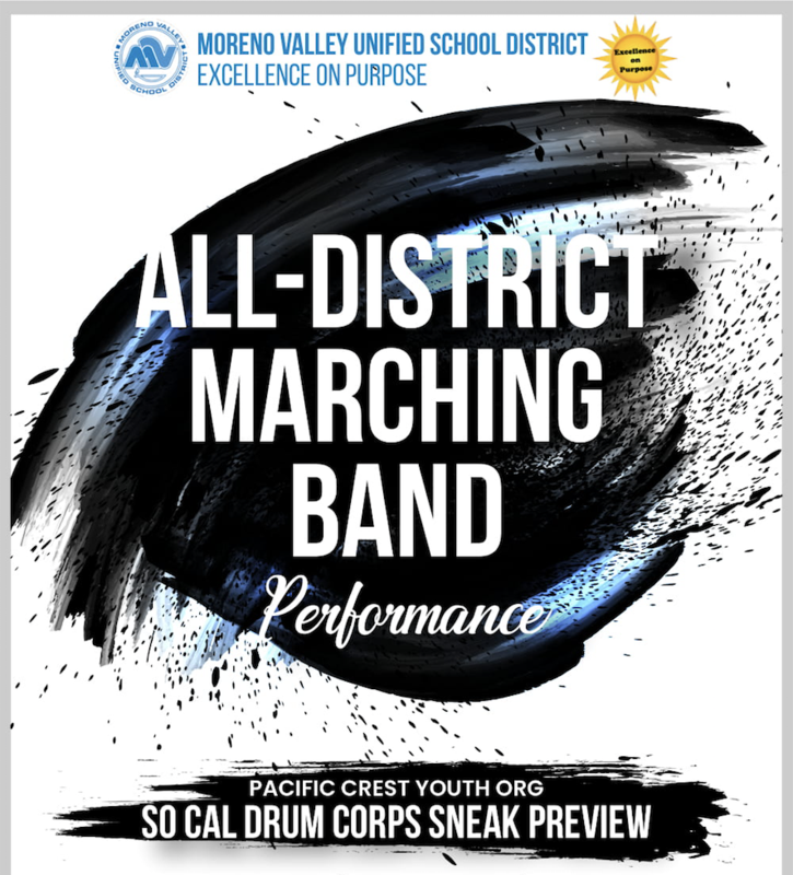 MVUSD All-District Marching Band to perform at Pacific Crest SoCal Drum Corps Sneak Preview