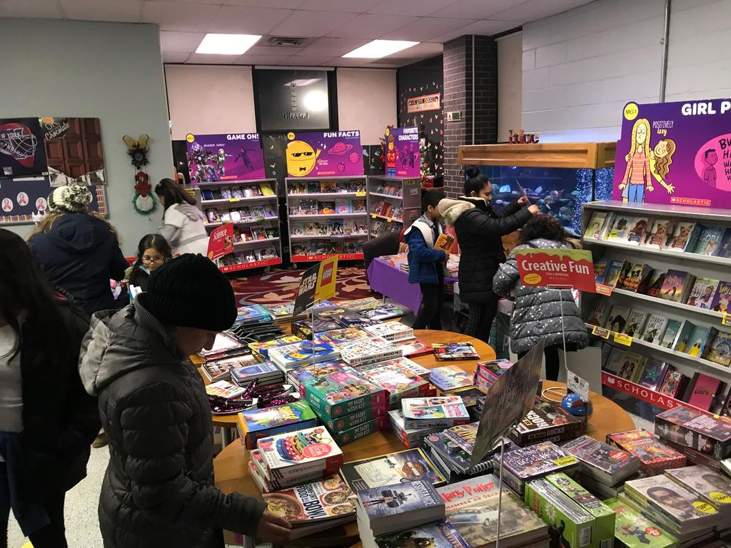 scholastic book fair with books on sale