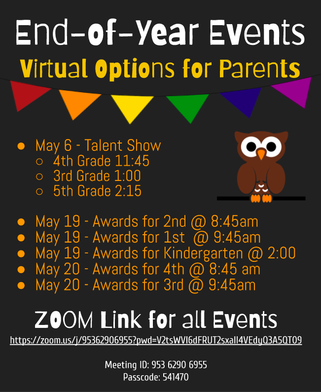 End of the year events for parents